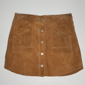 BlankNYC - Genuine Leather Button Up Mini Skirt 30